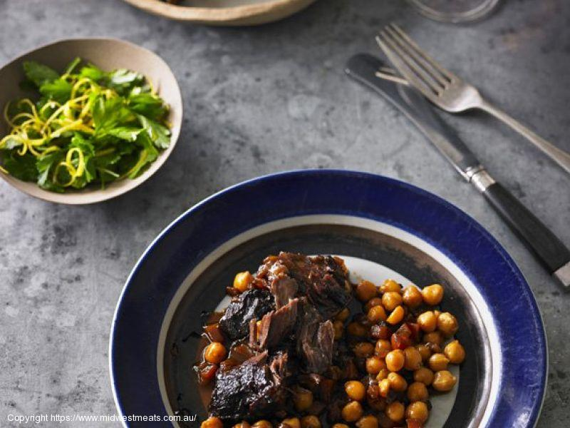 Braised Beef Cheeks with Chickpeas