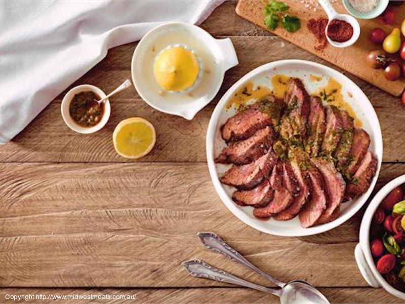 Greek BBQ Lamb with Greek Salad